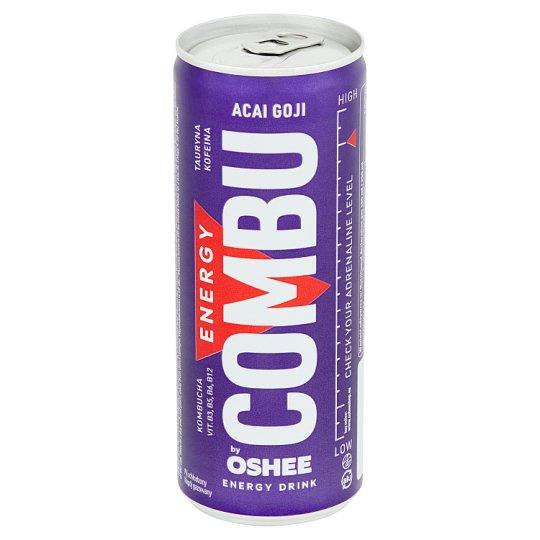 Oshee Combu by Oshee Gazowany napój energetyzujący o smaku jagód acai-goji 250 ml