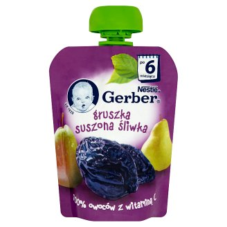 Gerber Pear Dried Plum after 6 Months Onwards Dessert 90 g