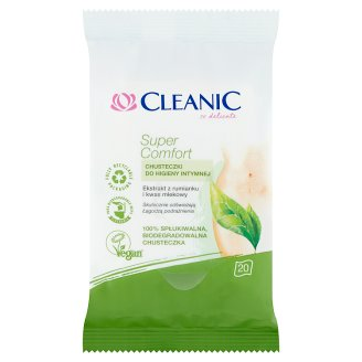 Cleanic Super Comfort Intimate Wet Wipes 20 Pieces
