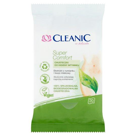Cleanic Super Comfort Chusteczki do higieny intymnej 20 sztuk