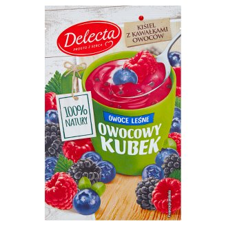 Delecta Owocowy kubek Forest Fruits Flavoured Soft Jelly 30 g