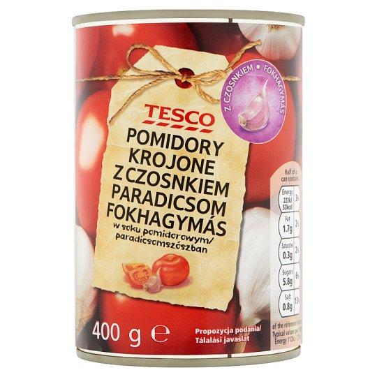 Tesco Chopped Tomato in Olive Oil-Garlic Flavoured Tomato Sauce 400 g
