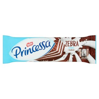 Princessa Zebra Cocoa Wafer Layered with Milk Cream 37 g