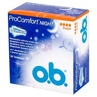 O.B. ProComfort Night Super Tampons 36 Pieces