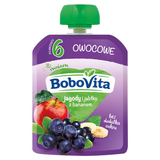 BoboVita Berries and Apples with Banana after 6 Months Onwards 80 g