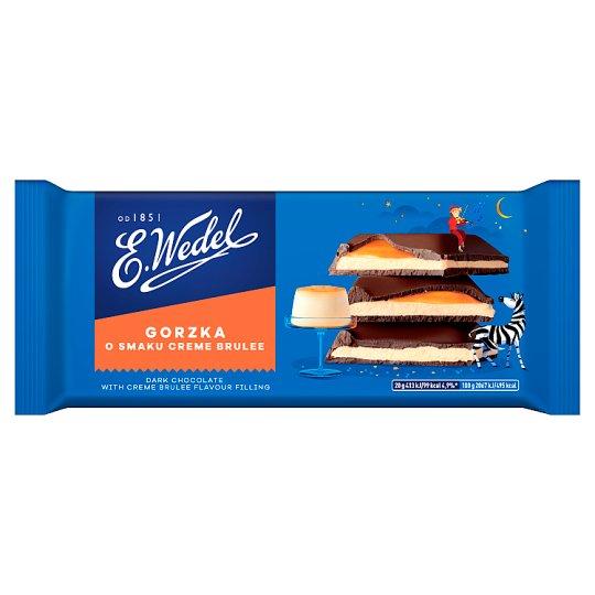 E. Wedel Dark Chocolate with Crème Brûlée Flavour Filling 100 g