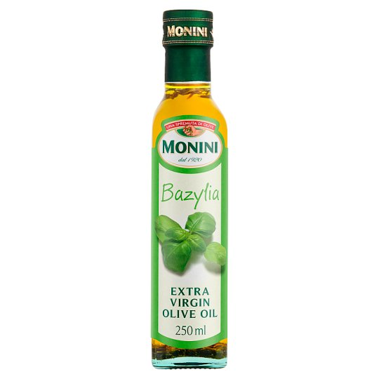 Monini Basil Flavoured Extra Virgin Olive Oil 250 ml