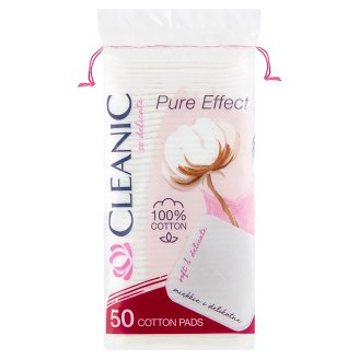 Cleanic Pure Effect Soft Touch Cosmetic Pads 50 Pieces