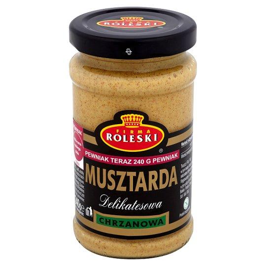 Firma Roleski Delikatesowa Musztarda chrzanowa 240 g