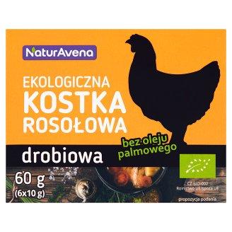 NaturAvena Ekologiczna kostka rosołowa drobiowa 60 g (6 x 10 g)