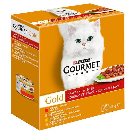 Gourmet Gold Karma dla kotów kolekcja kawałków w sosie 680 g (8 x 85 g)