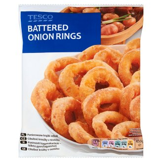 Tesco Battered Onion Rings 450 g