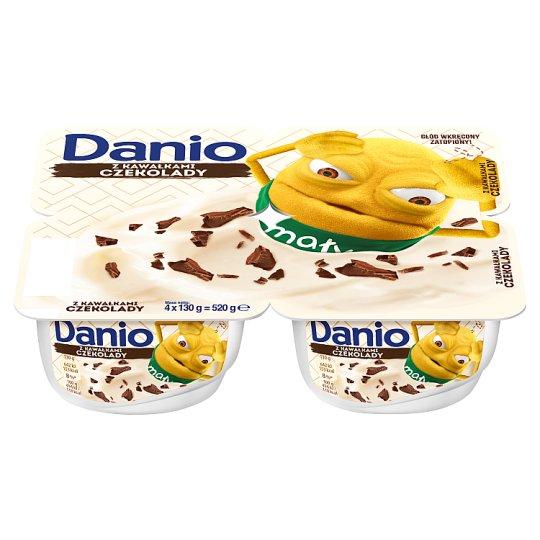 Danone Danio Extra Serek homogenizowany z czekoladą 520 g (4 sztuki)