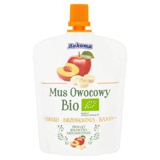 Bakoma Mus owocowy Bio jabłko-brzoskwinia-banan 90 g