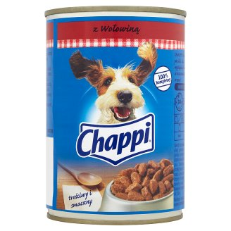 Chappi Complete Food for Adult Dogs with Beef 400 g