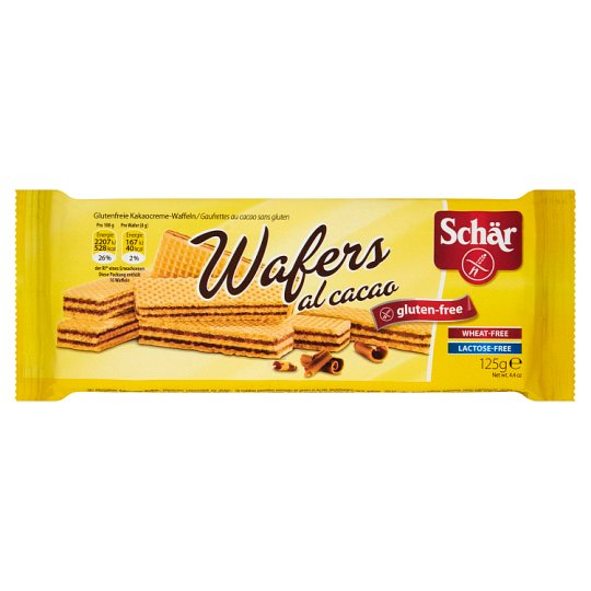 Schär Wafers al Cacao Cocoa Gluten Free Wafers 125 g