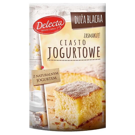 Delecta Duża Blacha Yoghurt Powdered Cake 640 g