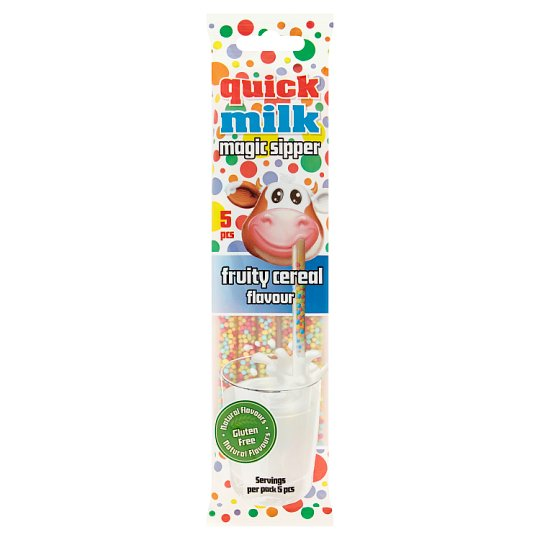 Quick Milk Magic Sipper Fruity Cereal Flavour Milk Sipper 30 g (5 x 6 g)