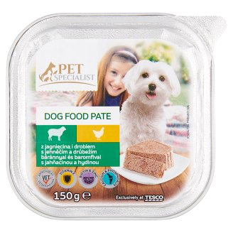 Tesco Pet Specialist Pate with Lamb and Poultry Food for Adult Dogs 150 g