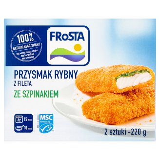 FRoSTA Fish Steaks from Fillet with Spinach 220 g (2 Pieces)