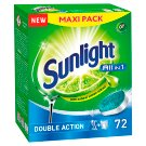 Sunlight All in 1 Tabletki do zmywarki 1260 g (72 sztuki)