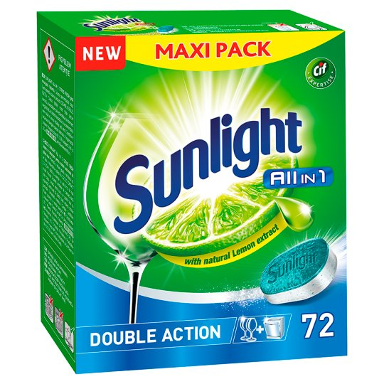 Sunlight All in 1 Dishwasher Tablets 1260 g (72 Pieces)