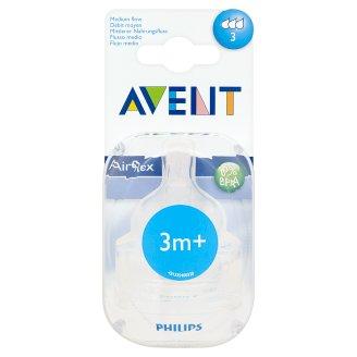 Avent Airflex Medium Flow Teat after 3 Months 2 Pieces