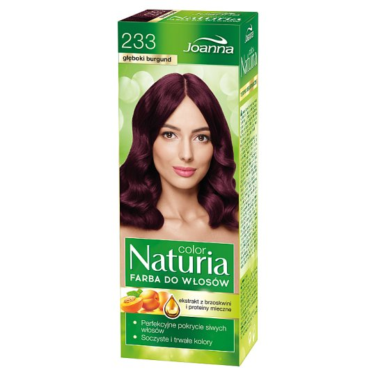 Joanna Naturia color Farba do włosów głęboki burgund 233