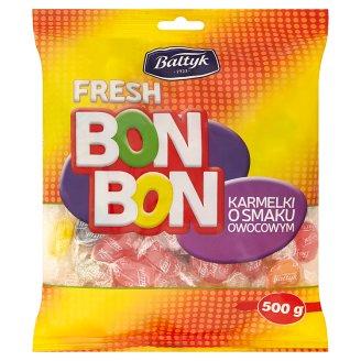 Bałtyk Bon Bon Karmelki o smaku owocowym 500 g