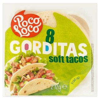 Poco Loco Gorditas  Soft Tacos 272 g (8 Pieces)