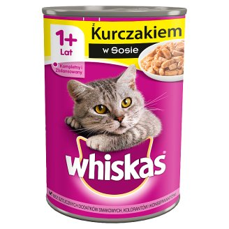 Whiskas 1+ Year Adult Complete Cat Food with Chicken in Sauce 400 g
