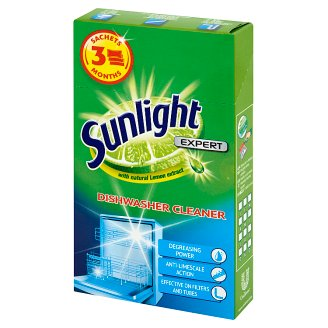 Sunlight Expert Dishwasher Cleaner 120 g (3 Pieces)