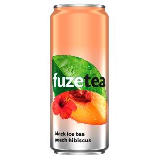 FuzeTea Black Ice Tea Peach Hibiscus Drink 330 ml