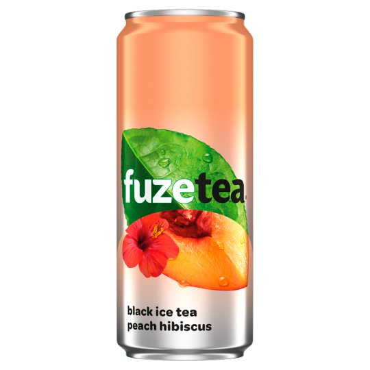 FuzeTea Black Ice Tea Peach Hibiscus Drink 330 ml
