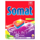 Somat All in 1 Lemon & Lime Tabletki do mycia naczyń w zmywarkach 864 g (48 sztuk)