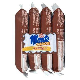 Zott Monte Snack Sponge Cake with Milk and Chocolate-Nut Cream 4 x 29 g