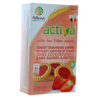 Activa No Added Sugar Strawberry Biscuits 150 g (6 x 2 Pieces)