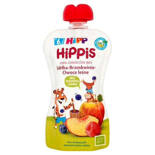 HiPP BIO HiPPiS Jabłka-Brzoskwinie-Owoce leśne Mus owocowy po 6. miesiącu 100 g