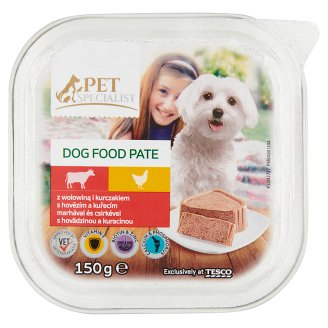 Tesco Pet Specialist Pate with Beef and Chicken Food for Adult Dogs 150 g