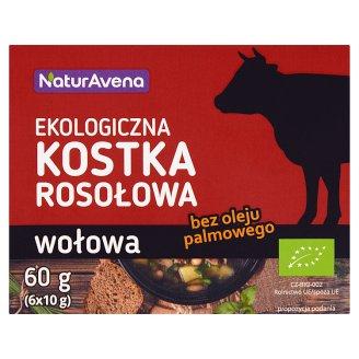 NaturAvena Beef Organic Bouillon Cubes 60 g (6 x 10 g)