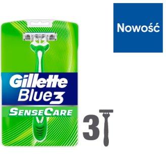 Gillette Blue3 Sensitive Jednorazowe maszynki do golenia, 3 sztuki