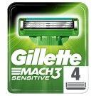 Gillette Mach3 Sensitive Razor Blades For Men, 4 Refills