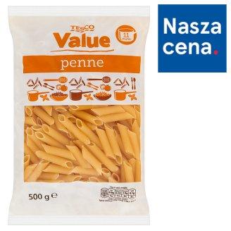 Tesco Value Penne Makaron rurki bezjajeczny 500 g