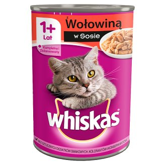 Whiskas Complete Cat Food with Beef in Sauce 400 g
