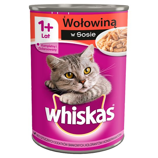 Whiskas 1+ Year Complete Cat Food with Beef in Sauce 400 g