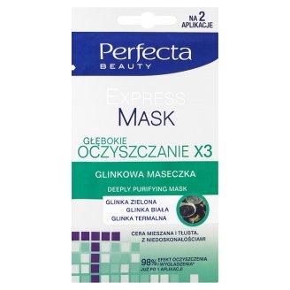 Perfecta Beauty Experss Mask Głębokie oczyszczanie x3 Glinkowa maseczka 10 ml