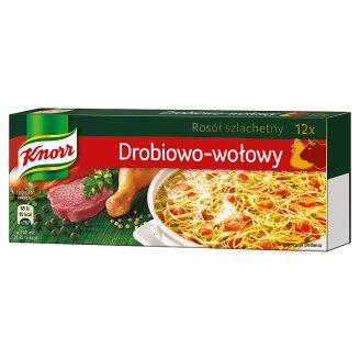 Knorr Rosół szlachetny drobiowo-wołowy 120 g (12 sztuk)