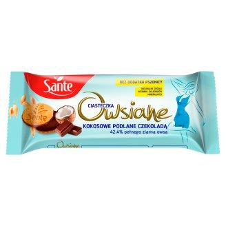 Sante Niezłe Ciacho Ciasteczka owsiane kokosowe podlane czekoladą 170 g