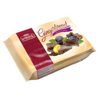 Lambertz Pierniki w czekoladzie z nadzieniem śliwkowym 250 g