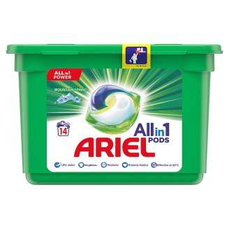 Ariel 3in1 Pods Mountain Spring Washing Capsules 14 Washes